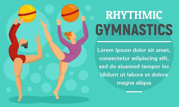 Banner de concepto de gimnasia rítmica de bola