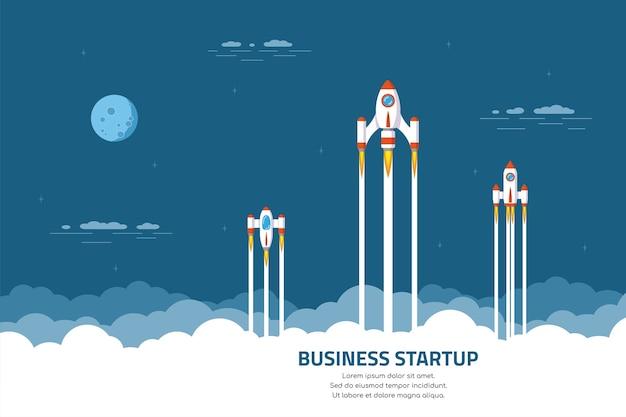 Banner de concepto de inicio de negocios