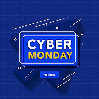 Banner de concepto de lunes cibernético