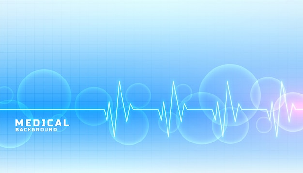 Banner de concepto médico y sanitario en color azul