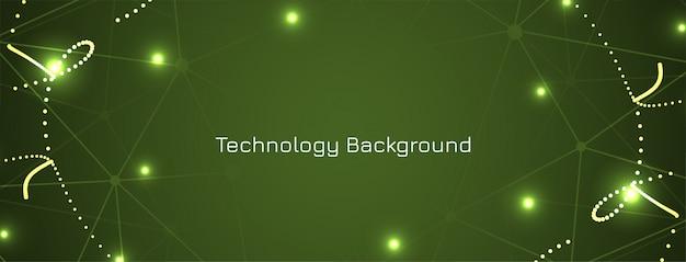 Banner de concepto de tecnología verde