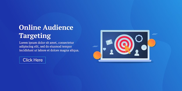 Banner conceptual de orientación de audiencia en línea