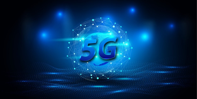 Banner de conexión de red global 5g