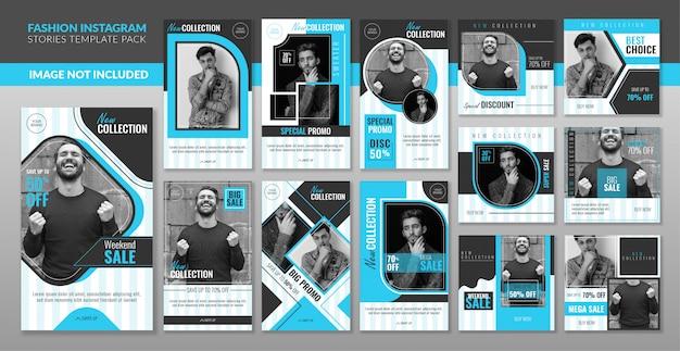 Banner de conjunto de publicaciones de redes sociales