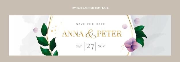 Banner de contracción de boda de lujo realista