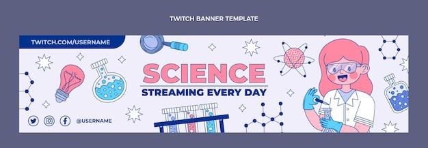 Banner de contracción de ciencia plana