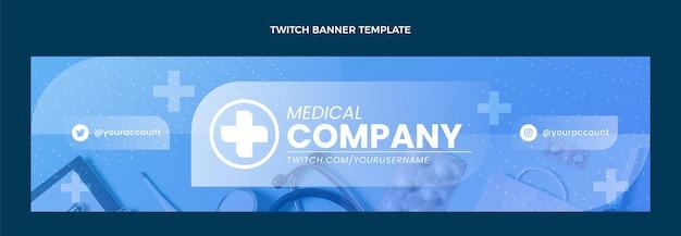 Banner de contracción médica gradiente