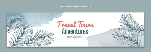 Banner de contracción de viajes en acuarela