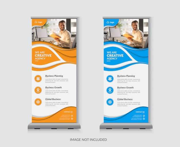 Banner corporativo enrollable de negocios