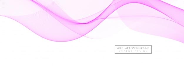 Banner creativo abstracto ola rosa sobre fondo blanco