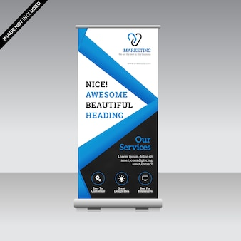 Banner creativo enrollable