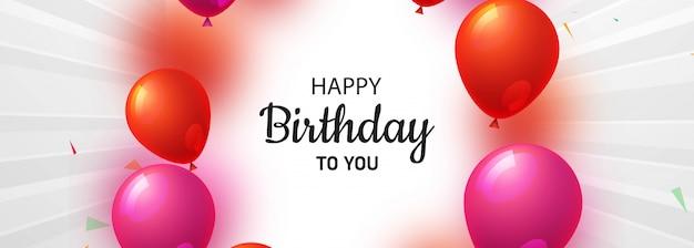 Banner creativo de feliz cumpleaños celebración