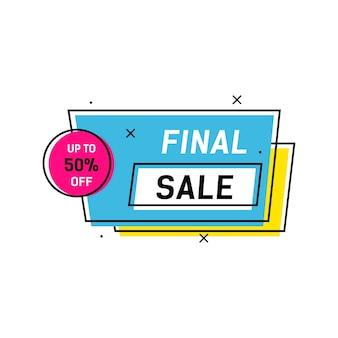 Banner creativo de venta final
