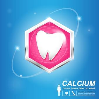 Banner de cuidado dental y dientes