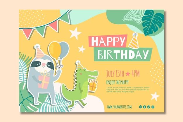 Banner de cumpleaños para niños