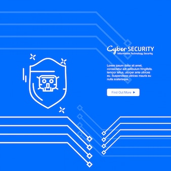 Banner de cyber ​​security