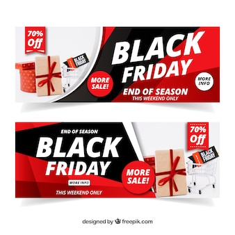 Banner de black friday con carro