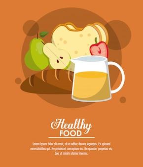 Banner de comida sana y deliciosa