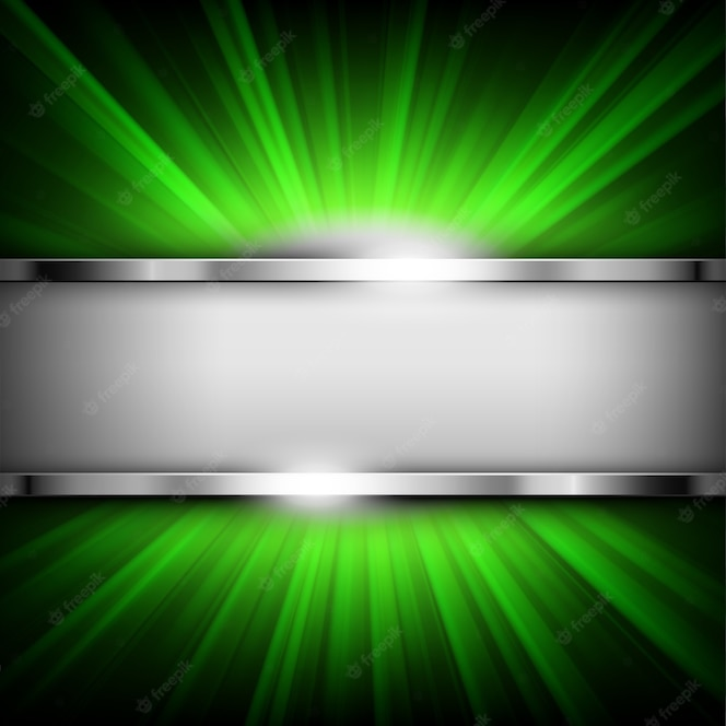 Banner de cromo metálico