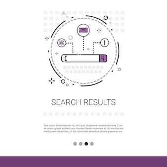 Banner de datos web de resultados de búsqueda