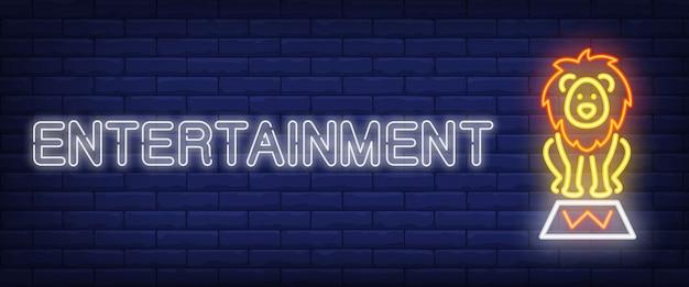 Banner de estilo de neón de entretenimiento