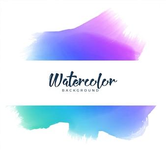 Banner de mancha de acuarela colorido abstracto