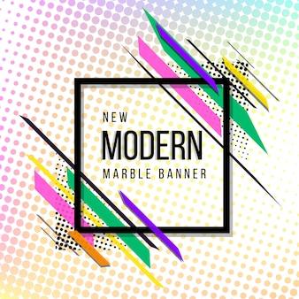 Banner de semitono abstracto moderno