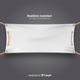 Banner de tela realista