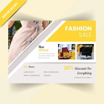 Banner de venta de moda horizontal