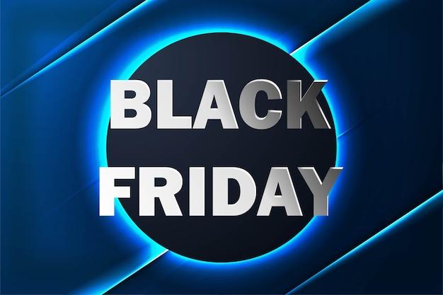 Banner de venta de viernes negro con fondo de neón