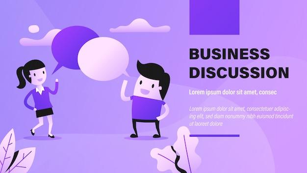 Banner de debate empresarial