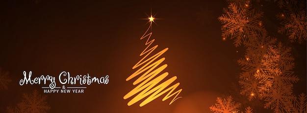 Banner decorativo abstracto feliz navidad