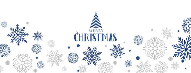 Banner decorativo de copos de nieve para el festival de feliz navidad