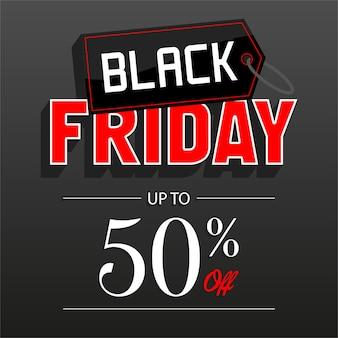 Banner de descuento de venta de viernes negro