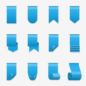 Banner de desplazamiento de cintas. cinta de seda con ilustración de esquinas rizadas