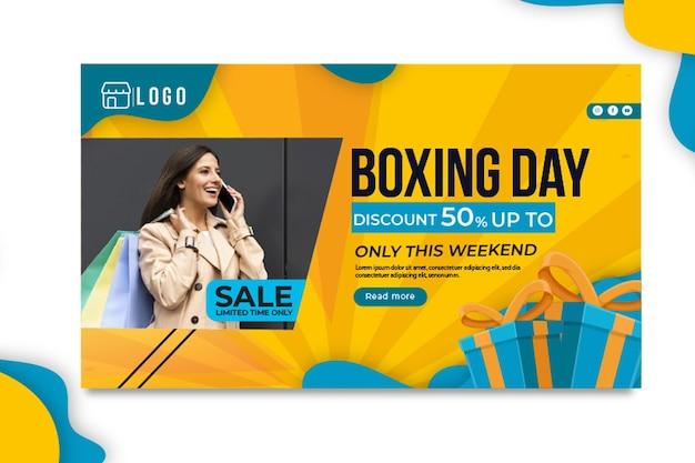 Banner del día del boxeo