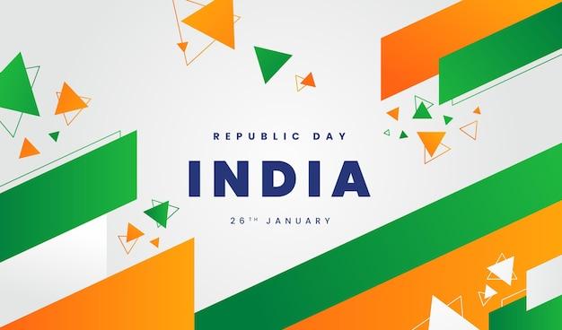 Banner de día de la india de diseño plano
