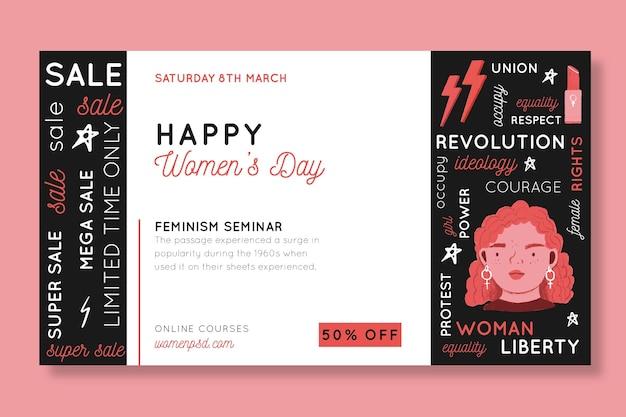 Banner del día internacional de la mujer