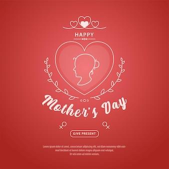 Banner del día de la madre y diseño de fondo de publicación en redes sociales