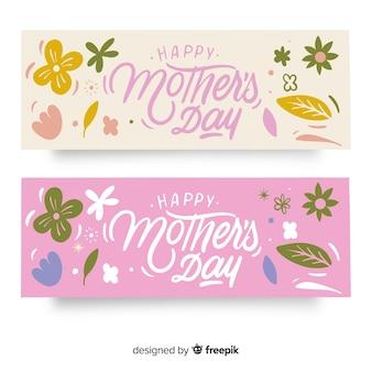 Banner día de la madre lettering