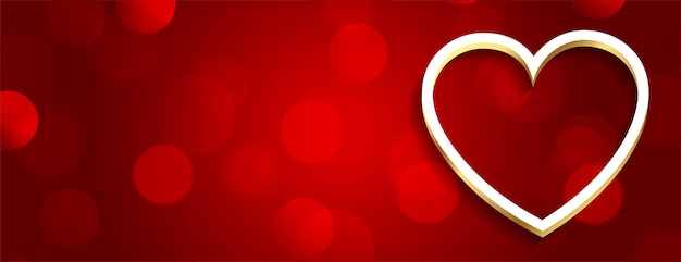 Banner de día de san valentín rojo romántico