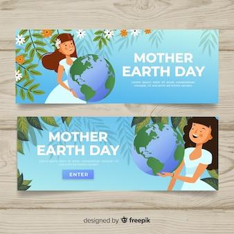 Banner del día de la tierra