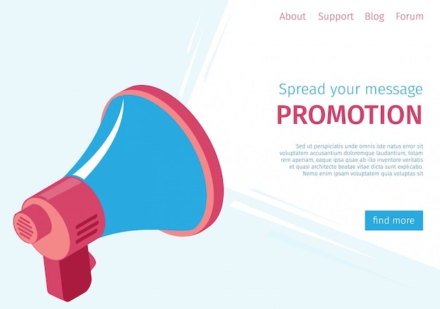 Banner difundir su mensaje de promoción a los usuarios