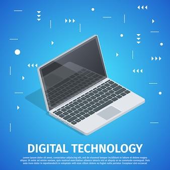 Banner digital de tecnología digital