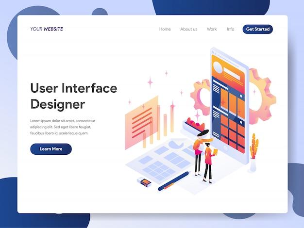Banner de diseñador de interfaz de usuario de la página de destino
