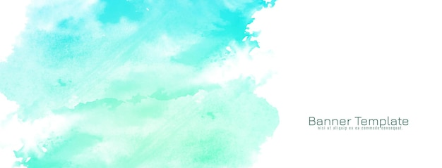 Banner de diseño abstracto acuarela