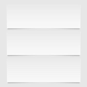 Banner de diseño abstracto. un conjunto de plantillas web de banner.
