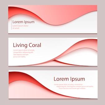 Banner de diseño abstracto de vector. un conjunto de plantillas de banner.