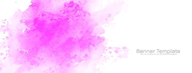 Banner de diseño acuarela rosa abstracta