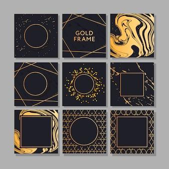 Banner con un diseño dorado moda vector art.